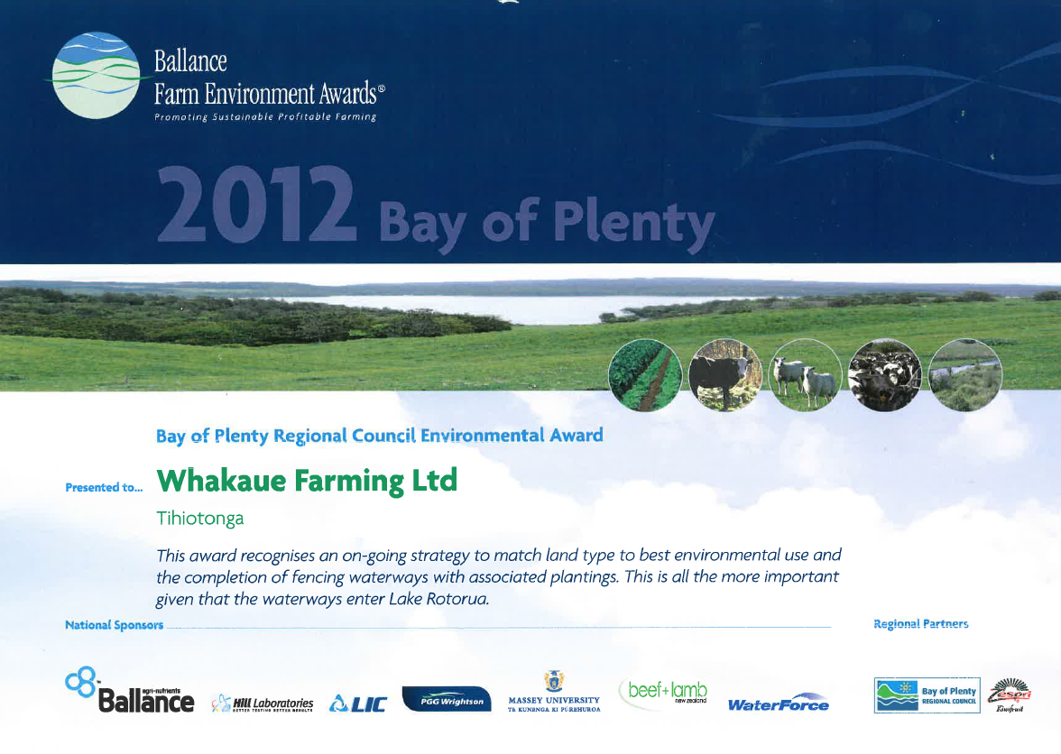 Ballance Farm Environment Awards 2012